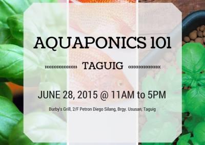 Aquaponics 101 in Taguig on June 28, 2015