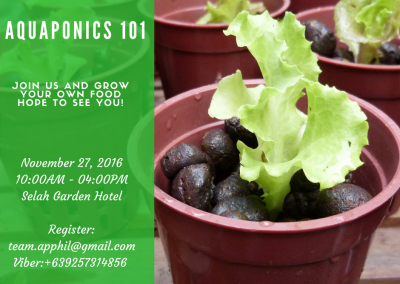 Aquaponics 101 on Nov. 27, 2016 in Pasay