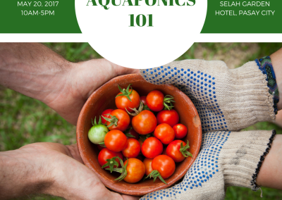 Aquaponics 101 on May 20, 2017 in Pasay