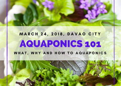 Aquaponics 101 at Marco Polo Hotel, Davao City on March 24, 2018