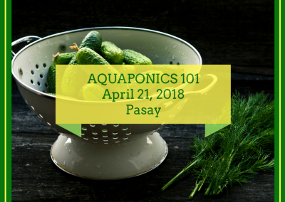 Aquaponics 101 on April 21, 2018 in Pasay City