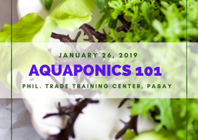 Aquaponics 101 on Jan. 26, 2019 at PTCC, Pasay