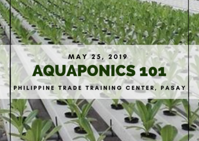 Aquaponics 101 on May 25, 2019 at DTI-PTTC, Pasay
